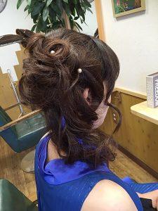 今日のヘアセット