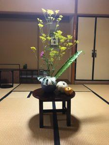 石田流 秋の生け花