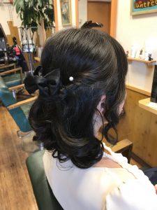 結婚式のお呼ばれヘアー
